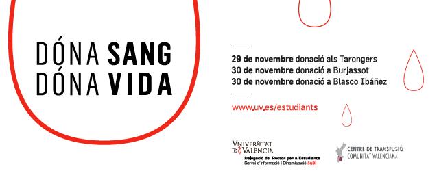Col·laboració en la Campanya de Donació de Sang La Delegació d'Estudiants mitjançant el SeDI i en col·laboració amb el Centre de Transfusions de la Comunitat Valenciana, us proposa un any […]